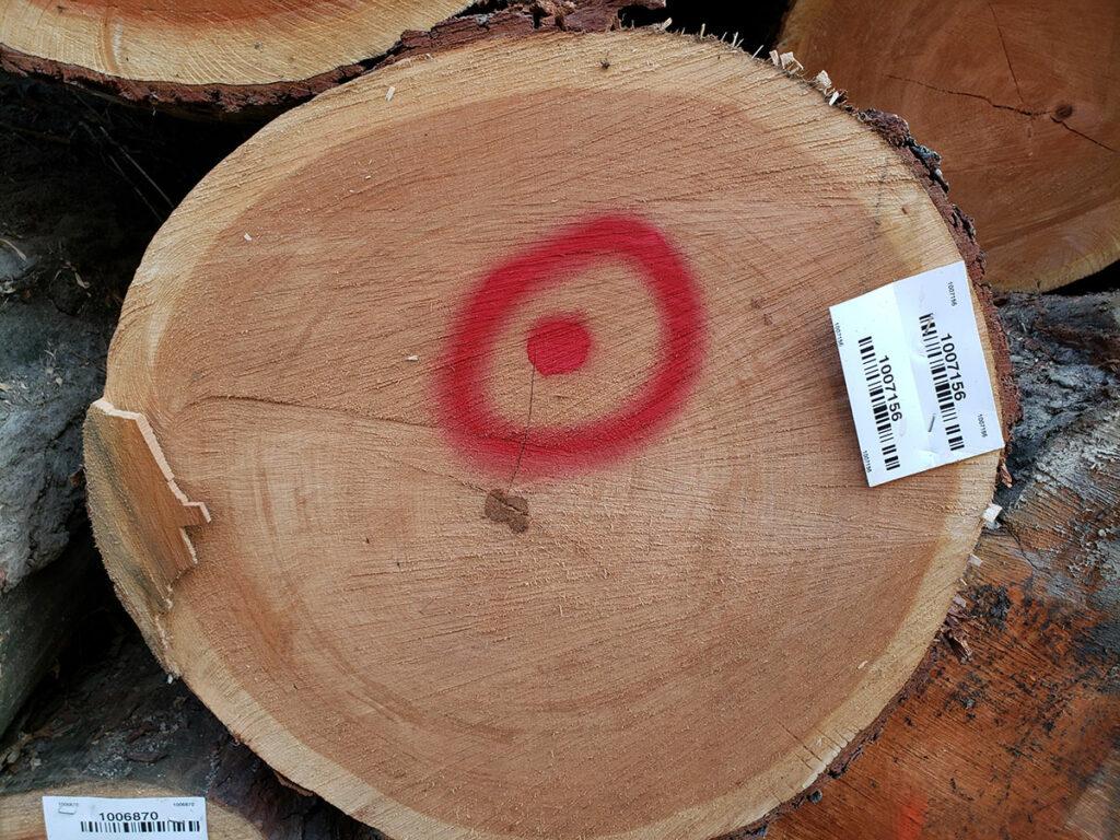 cherry tabletop log